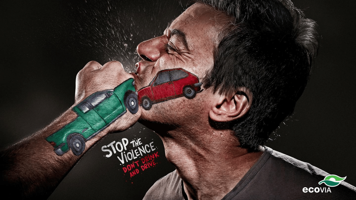 ecovia stop the violence - drinking and driving awareness advertising campaign