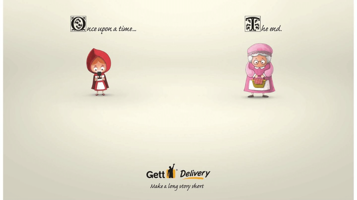 Gett Delivery Print Advertisement campaign