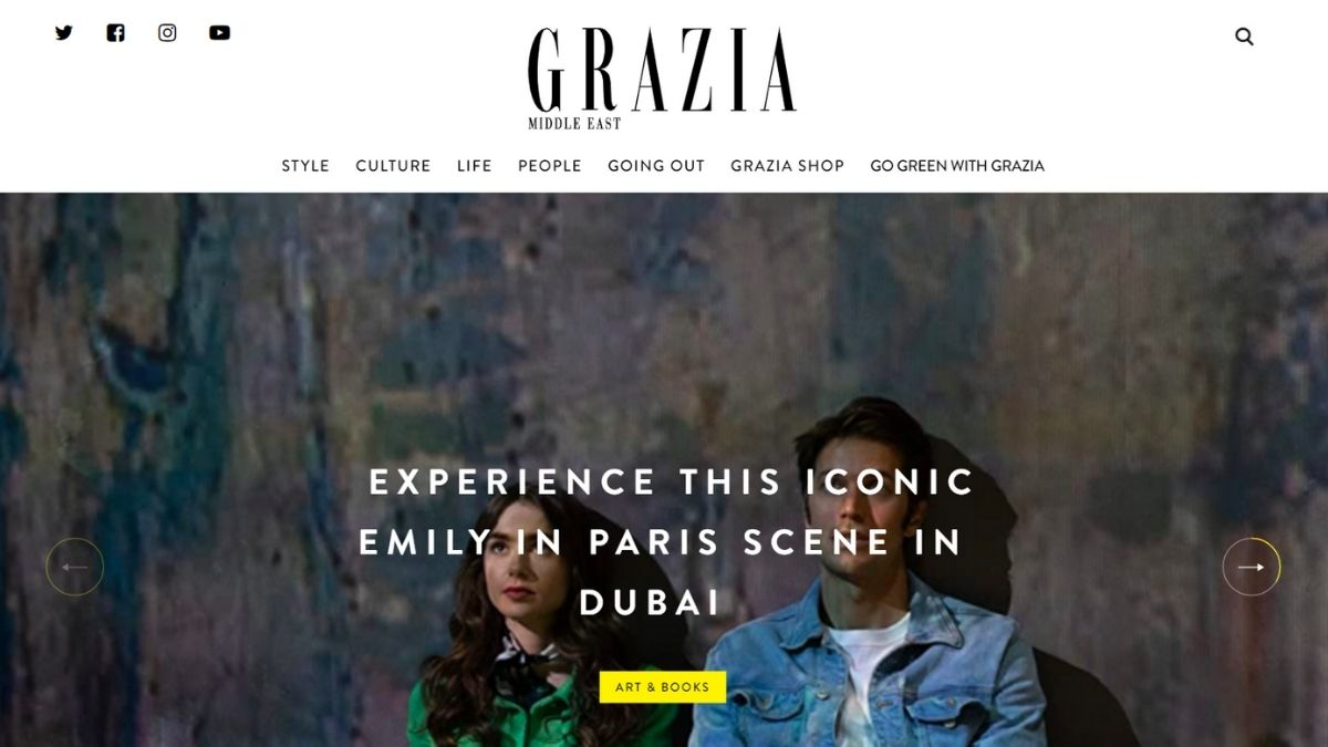 grazia middle east online magazine - homepage