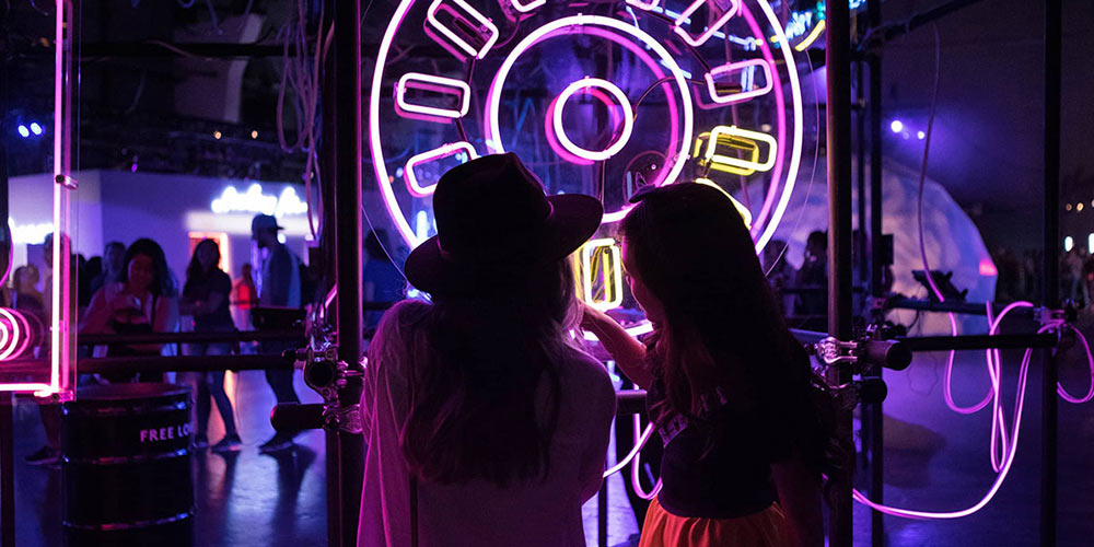 experiential marketing campaign with led light fixtures